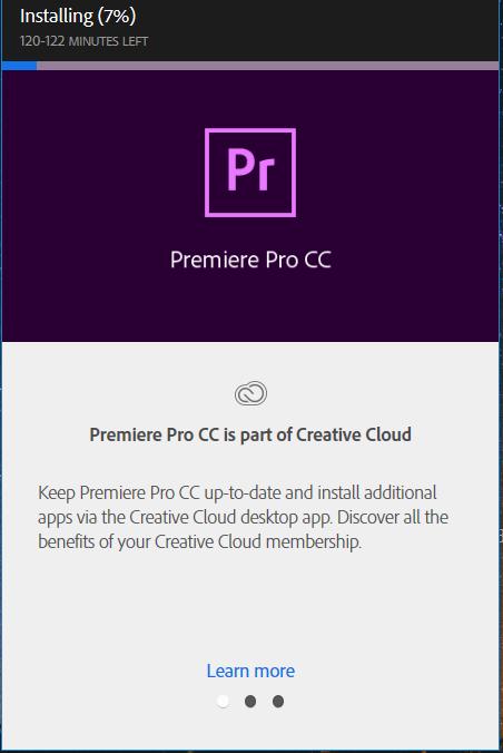 Istalling Premiere Pro CC