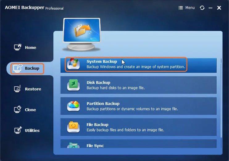 Download AOMEI Backupper 5 Full - Phần mềm sao lưu dữ liệu máy tính 5