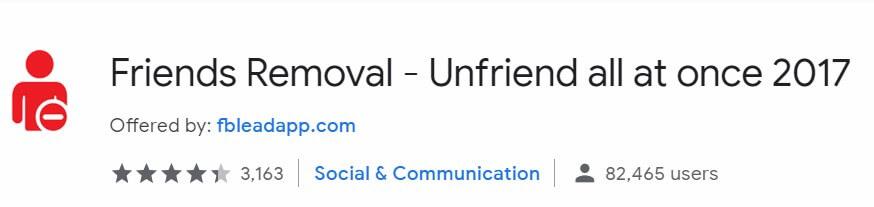 hủy kết bạn hàng loại trên Facebook nhanh nhất với Friends Removal