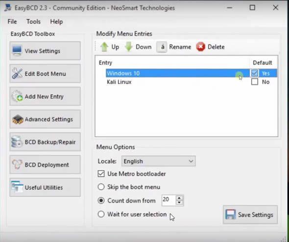 Cách cài song song Kali Linux với windows 10 mới nhất 49