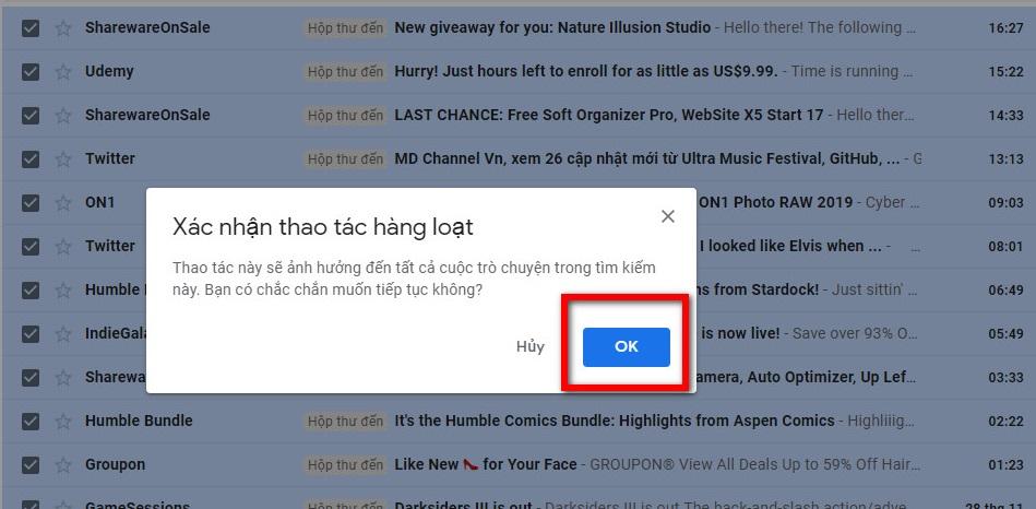 Hướng dẫn xóa mail chưa đọc trong Gmail cực nhanh 10