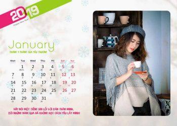 Share miễn phí File Photoshop lịch tết 2019 cực đẹp 1