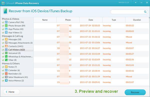 Gihosoft - Phần mềm khôi phục dữ liệu cho iPhone tốt nhất 11