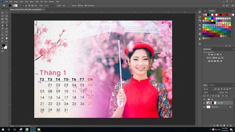 Share miễn phí File Photoshop lịch tết 2019 cực đẹp 12