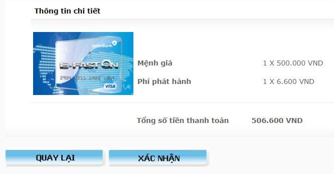 đăng ký Visa ảo của Vietinbank