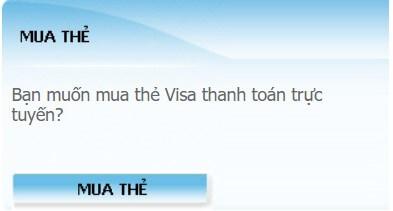tạo Visa ảo của Vietinbank
