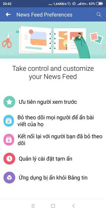 tùy chọn bản tin