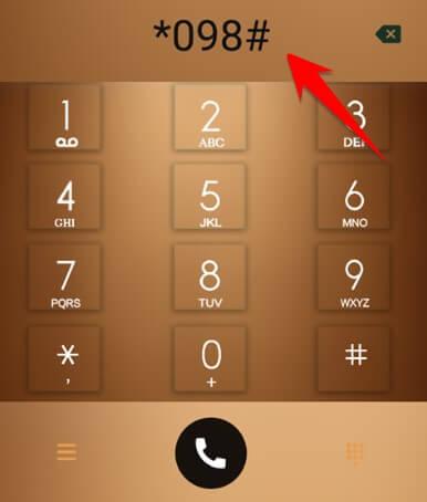 nhấn *098# để chạy mã USSD của Viettel.
