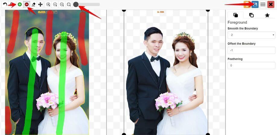 Photoscissors tách background online