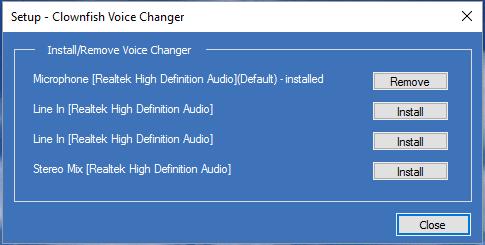 Phần mềm thay đổi giọng nói thành em bé với Clownfish Voice Changer 4