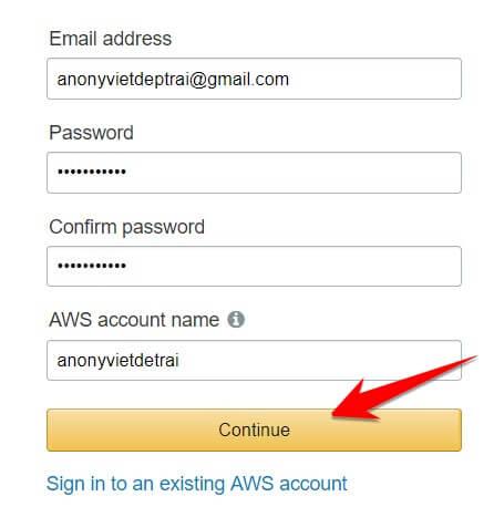 Cách đăng ký VPS Free AWS của Amazon