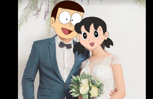 Hướng dẫn ghép mặt Nobita, Shizuka vào hình đơn giản