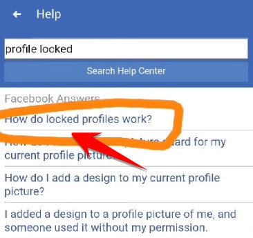 How do locked profiles work?