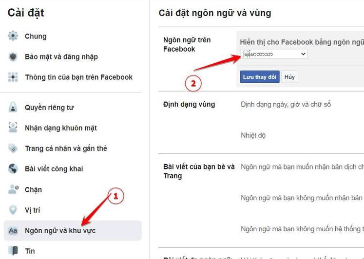 ngon ngu facebook locked profile