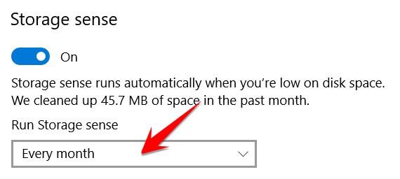 Run Storage Sense