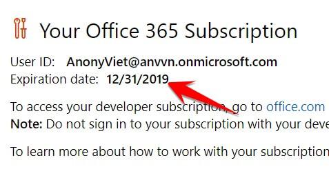 tài khoản Dev Microsoft