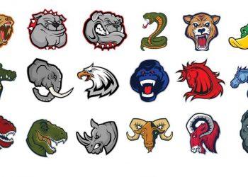 Tải bộ Vector logo động vật cực ngầu cho dân designer AI 6