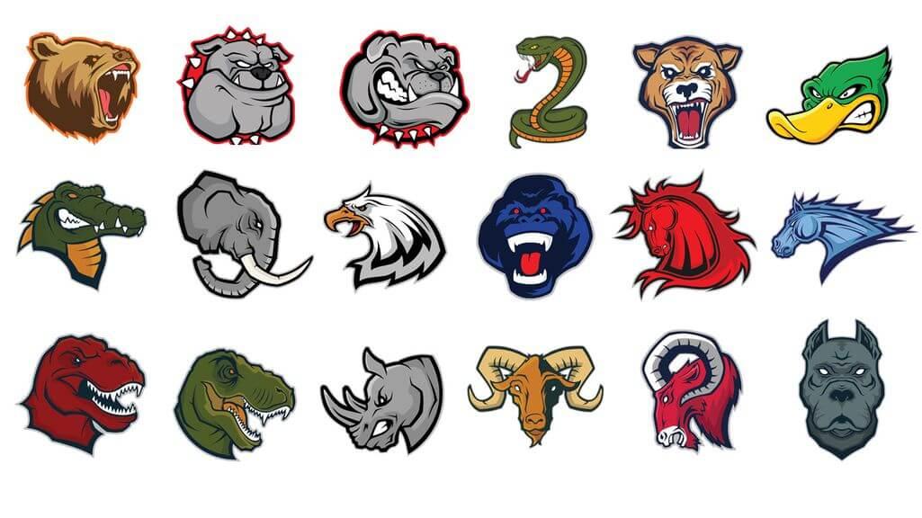 share bộ logo động vật
