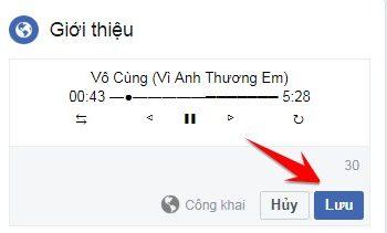 Tạo Tiểu sử Facebook bằng Trình phát nhạc bài hát 3