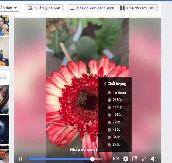 chất lương video cao trên facebook