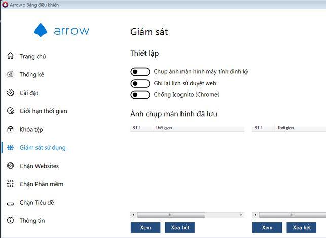 Arrow - Phần mềm bí mật theo dõi máy tính từ xa của Việt Nam