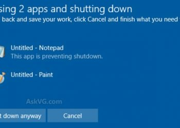 closing app and shutdown