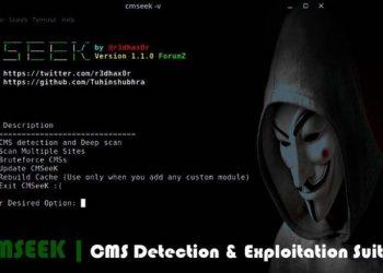 CMS dectecion and exploitation suite