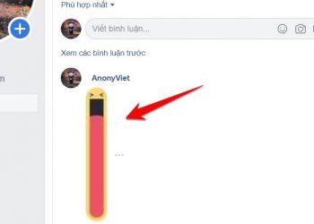 Cách Comment hình mặt cười miệng dài trên Facebook 1