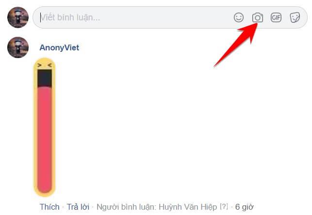 Cách Comment hình mặt cười miệng dài trên Facebook 3