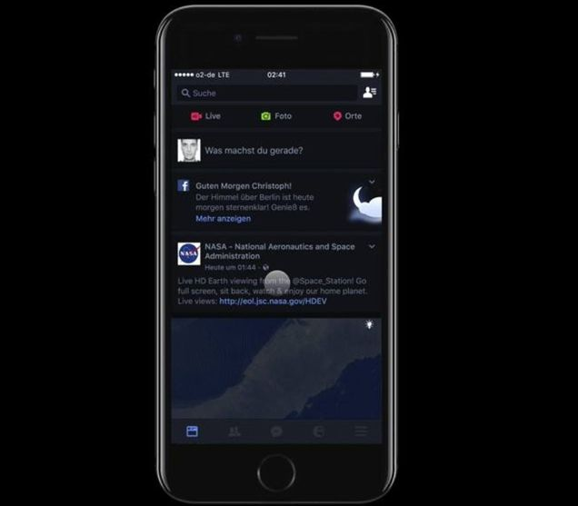 Facebook Dark Mode trên Iphone