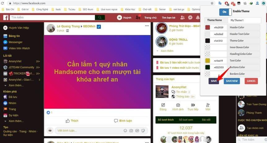 Cách làm Facebook Night Mode ?? trên máy tính và điện thoại 6