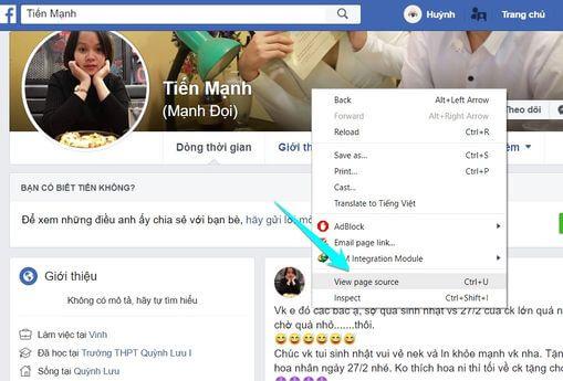 Cách tìm kiếm thông tin của ai đó trên Facebook