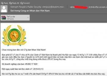 Cảnh báo Virus giả mạo Công an Việt Nam đang tấn công vào Việt Nam 3