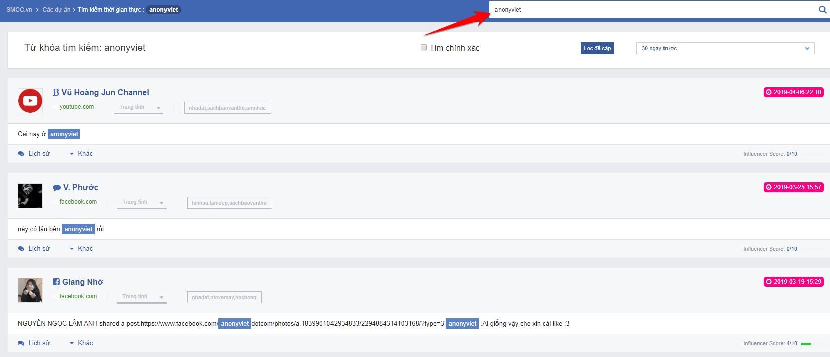 Theo dõi xu hướng Trend gần đây của Facebook