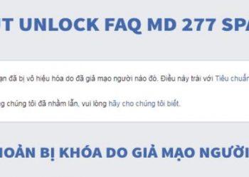 Tut Unlock Mạo danh Facebook khi bị Report 2019 2
