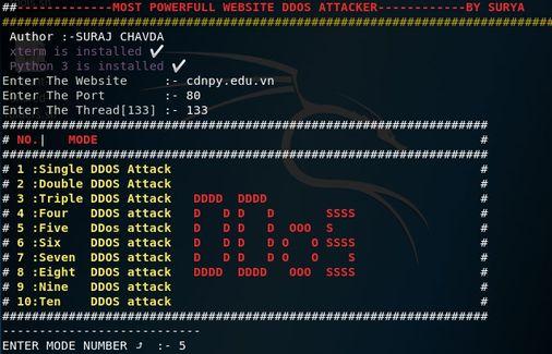 Attack Mod DDOS WebDos