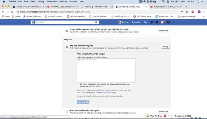 Bảo mật Facebook bằng OpenPGP mã hóa Email