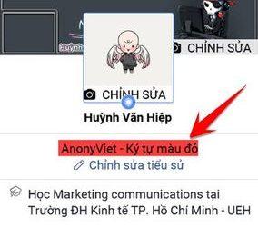 Cách làm tiểu sử màu trên Facebook cá nhân và ký tự màu 3