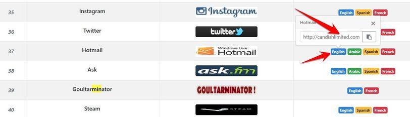 chọn giao diện cần Phishing và ngôn ngữ