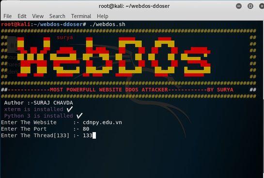cách sử dụng WebDos