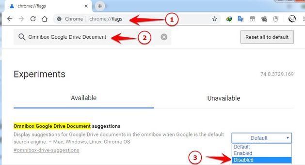 Sửa lỗi Chrome gợi ý địa chỉ Website là kết quả tìm kiếm