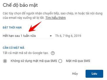 cài đặt chế độ bảo mật cho gmail