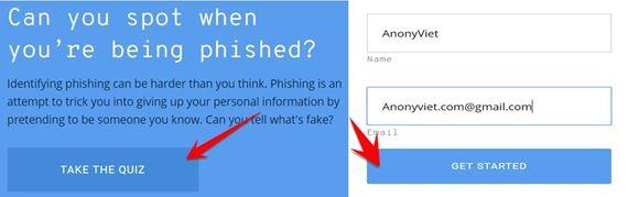 Cách kiểm tra kiến thức Phishing bằng bài Test của Google