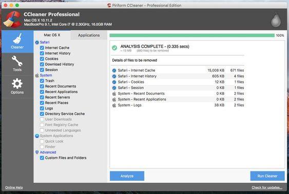 CCleaner For MAC Full key