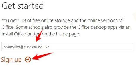 trang đăng ký Office 365 Student