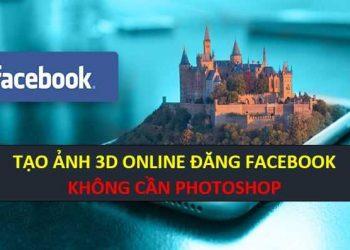 TẠO HÌNH 3D ĐĂNG LÊN FB