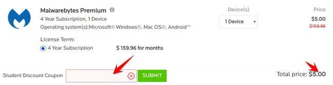 Hướng dẫn mua Key Malwarebytes 4 năm giá 5$