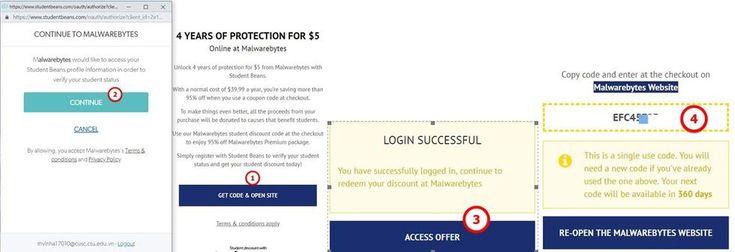 Cách mua Key Malwarebytes 4 năm giá 5$ với mail Edu