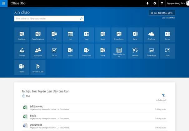 Hướng dẫn sử dụng Office 365 của Microsoft mới nhất 33