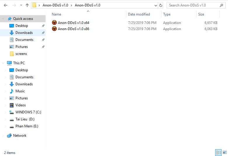 Hướng Dẫn Sử Dụng Anon DDoS